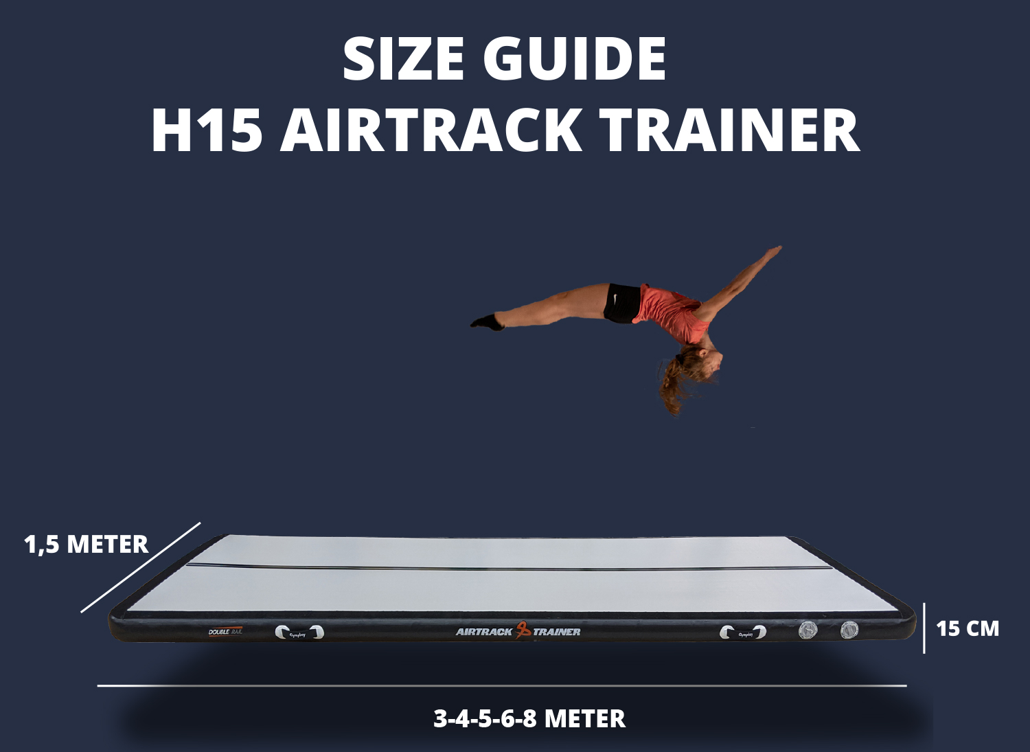 GymPlay airtrack size guide