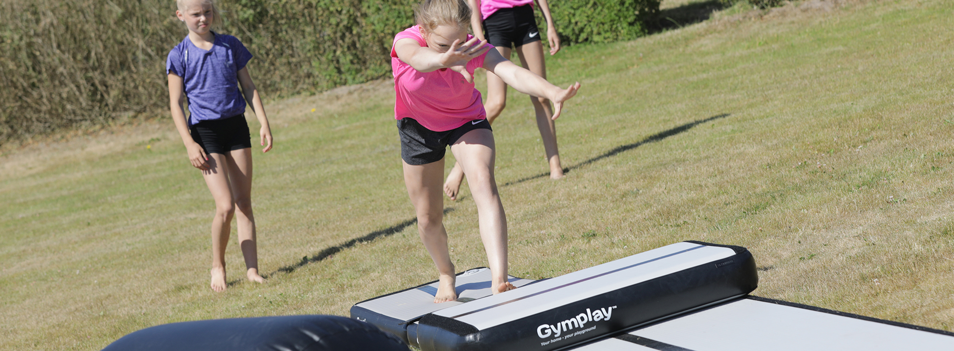 training on gymplay airtrack trainer kit